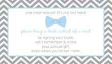 Baby Blue Bow Tie Bring A Book Card