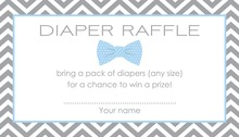 Baby Blue Bow Tie Raffle Cards