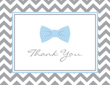 Light Blue Bow Tie Note Cards