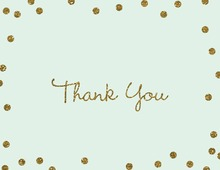 Gold Glitter Graphic Dots Mint Thank You Cards