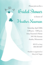 Teal Watercolor Wash Bridal Shower Invitations
