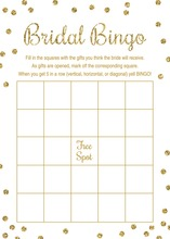 Gold Glitter Graphic Dots Bridal Bingo