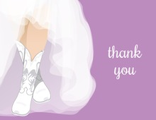 White Wedding Boots Lilac Bridal Note