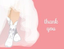 White Wedding Boots Pink Bridal Note