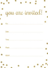 Gold Glitter Graphic Dots Fill-in Invitations