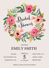 Watercolor Rose Bouquet Invitations