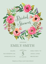 Beautiful Bouquet Bride Orange Cream Invitations