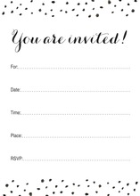 Black Dot Sprinkles Fill-in Invitations