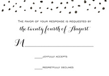 Black Dot Sprinkles RSVP Cards