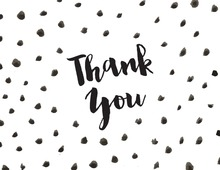 Watercolor Dots Thank You Note