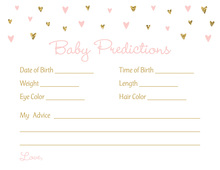 Gold Glitter Graphic Hearts Baby Predictions