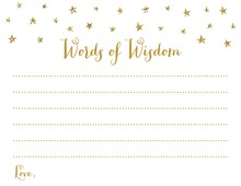 Gold Glitter Graphic Stars Advice Cards