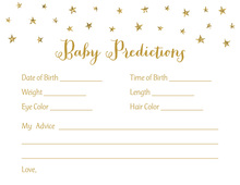 Gold Glitter Graphic Stars Baby Predictions