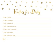 Gold Glitter Graphic Stars Baby Wishes