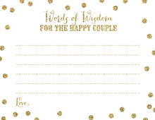 Gold Glitter Graphic Dots Couple Advice Cards