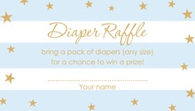 Blue Stripes Gold Stars Raffle Cards