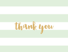 Mint Horizontal Stripes Thank You Note