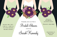 Modern Mint Bouquet Girls Bridal Shower Invitations