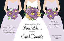 Modern Lavender Bouquet Girls Bridal Shower Invitations