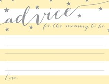 Yellow Stripes Grey Stars Advice Cards