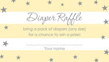 Yellow Stripes Grey Stars Raffle Cards