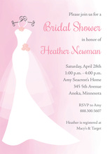 Pink Watercolor Wash Bridal Shower Invitations