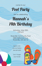 Tranquility Oasis Water Park Blend Of Fun Invitations