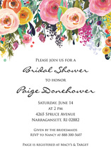 Watercolor Floral Bouquet Script Invitations