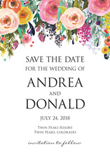 Watercolor Floral Bouquet Save The Date Cards