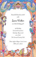 Circus Elements Carousel Invitations