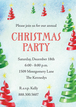 Ribbon Christmas Tree Invitations