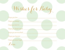 Mint Polka Dots Baby Wishes