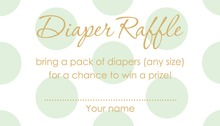 Mint Polka Dots Raffle Cards