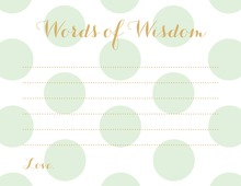 Mint Polka Dots Graphic Advice Cards