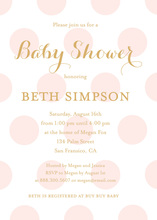 Pink Polka Dots Gold Glitter Graphic Invites
