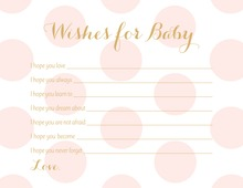 Pink Polka Dots Graphic Baby Wishes