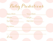 Pink Polka Dots Baby Prediction Cards