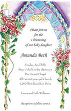 Christening Candles Invitation