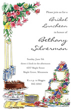 Floral Cake Shower Invitations