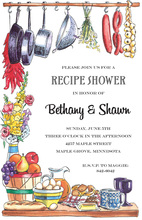 Wide Assortment Kitchen Items Invitation