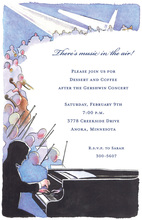 Lively Pianist Musicians Invitations