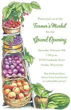 Fresh Basket Fruit Farmer Market Invitations
