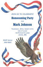 American Bald Eagle Banner Invitations