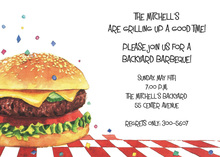 Juicy Hamburger Confetti Invitations