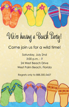 Casual Beachside Sandals Summer Invitations