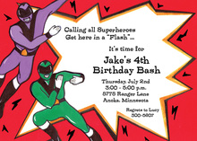Power Kids Super Hero Invitations