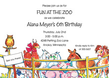 Day At The Zoo Invitations