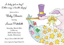 Magic Stork Baby Invitations