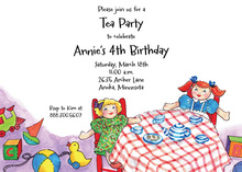 Doll Tea Party Invitations