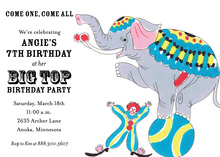 Jumbo The Elephant Invitations